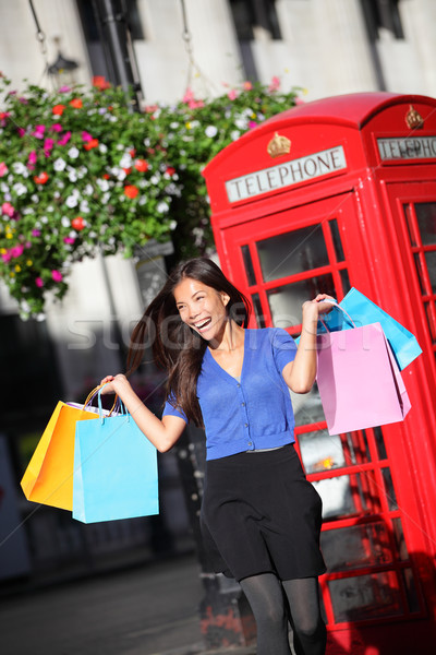 London shopping woman happy Stock photo © Maridav
