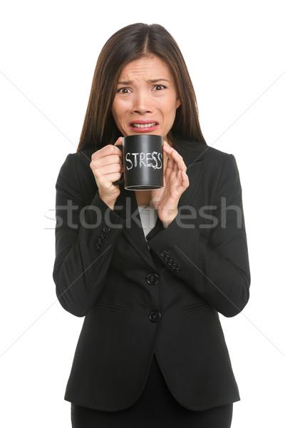 Stock fotó: Stressz · üzletasszony · hangsúlyos · elfoglalt · üzletasszony · öltöny