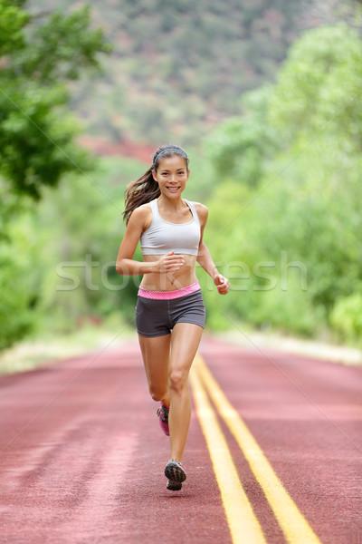 Futó nő fut képzés élet egészséges élet Stock fotó © Maridav