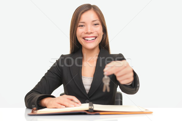 Real Estate Agent giving keys Stock photo © Maridav