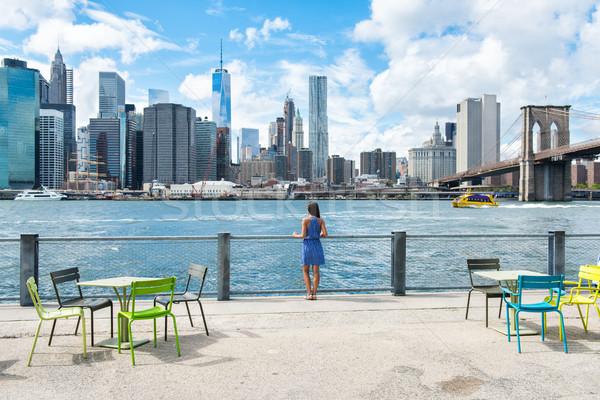 New York City Skyline bord de l'eau mode de vie personnes marche Photo stock © Maridav