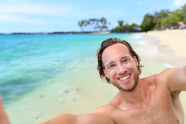 Stockfoto: Strandvakantie · man · reizen · vakantie · knap