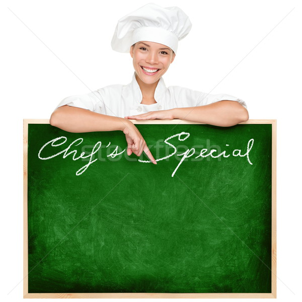 Stock photo: Chef menu sign