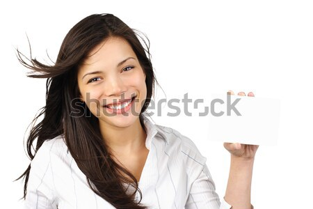 Stock photo: Woman thinking