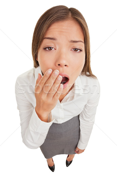 Exhausted or bored woman yawning Stock photo © Maridav