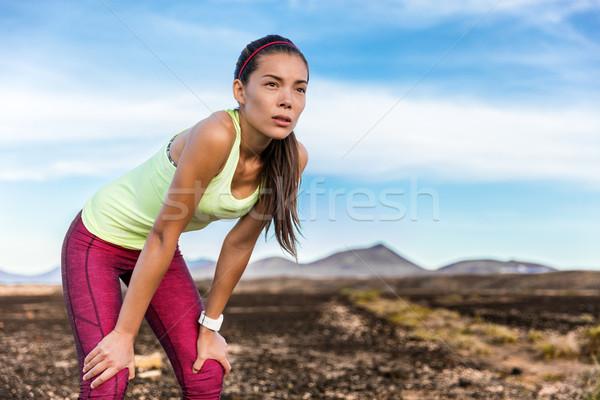 Stanco focus determinazione percorso esecuzione donna Foto d'archivio © Maridav