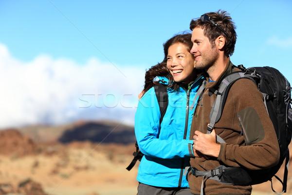 походов пару глядя мнение улыбаясь счастливым Сток-фото © Maridav