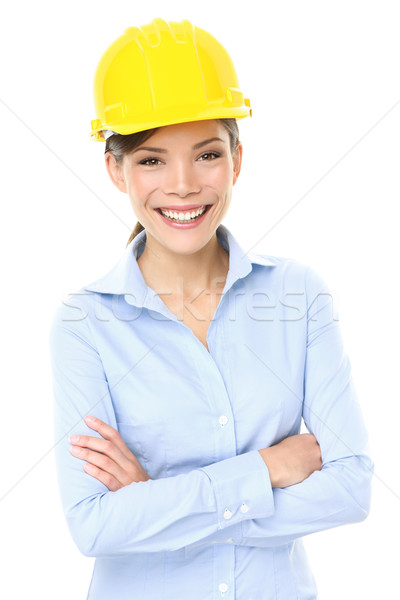 Stock photo: Engineer, entrepreneur or architect business woman