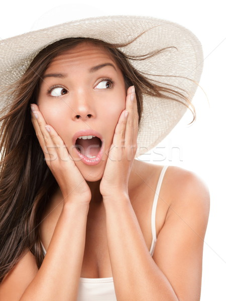 Woman shocked looking Stock photo © Maridav