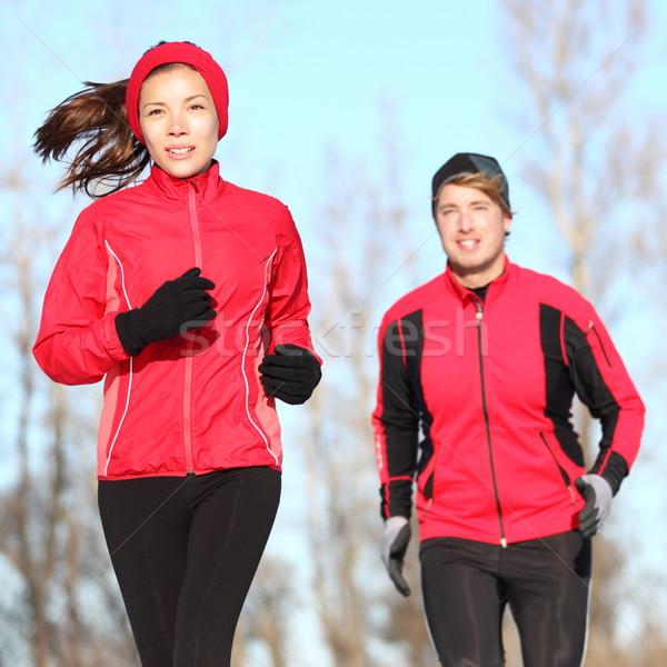 Stock photo: Healthy lifestyle winter running