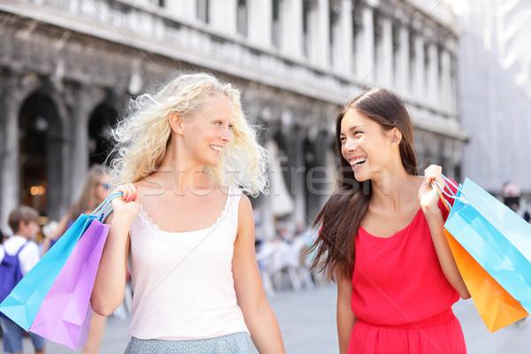 Stok fotoğraf: Alışveriş · kadın · mutlu · Venedik
