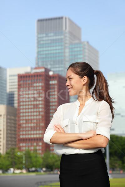 Asiático empresária feliz urbano Tóquio cidade Foto stock © Maridav