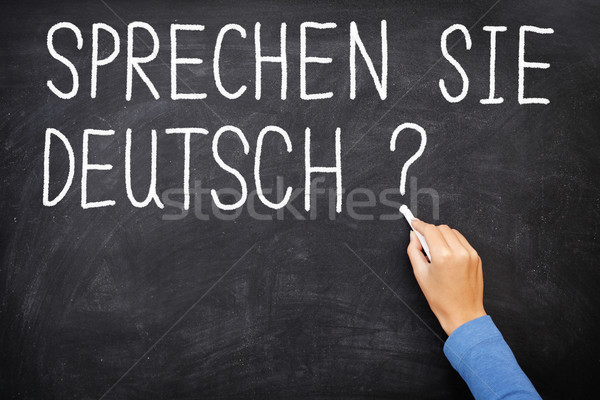 Leren taal spreken geschreven Blackboard klasse Stockfoto © Maridav