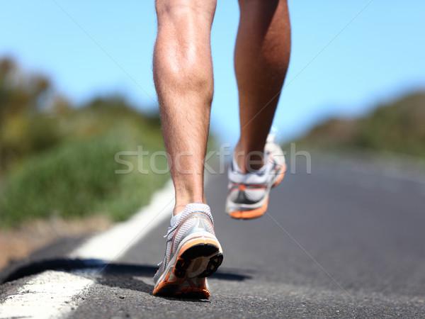 Stockfoto: Lopen · sport · schoenen · runner · benen · schoen