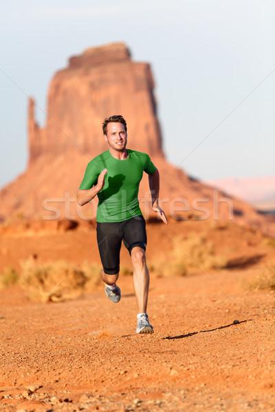 Stock fotó: Nyom · fut · férfi · férfi · futó · völgy