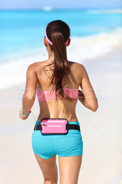 Attivo runner esecuzione attrezzi dietro jogging Foto d'archivio © Maridav