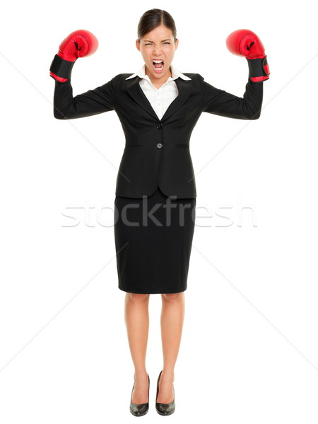Strong aggressive business woman concept Stock photo © Maridav