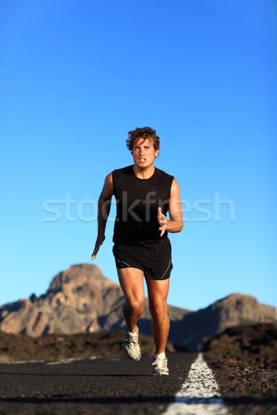 Running - male runner Stock photo © Maridav