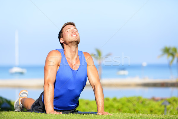 Fitness ioga homem cobra pose Foto stock © Maridav