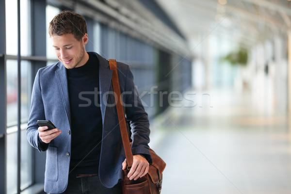 Homme jeunes homme d'affaires aéroport Photo stock © Maridav