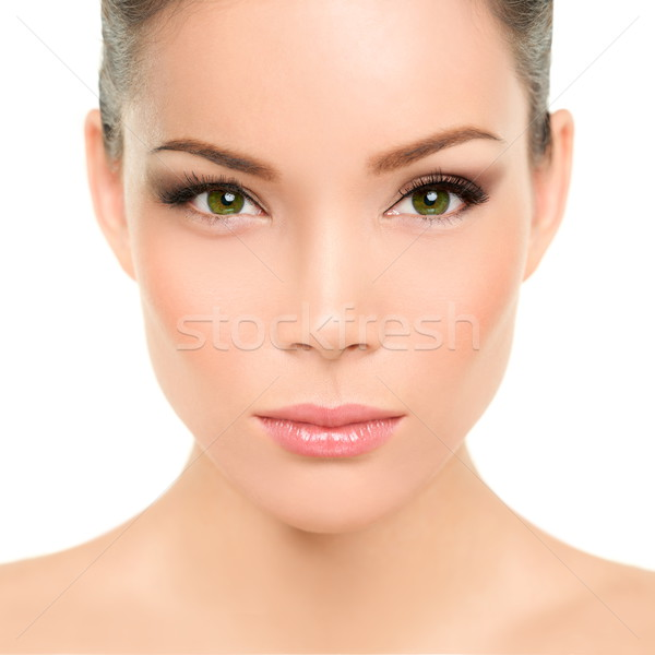 Yeux verts asian femme parfait beauté maquillage Photo stock © Maridav