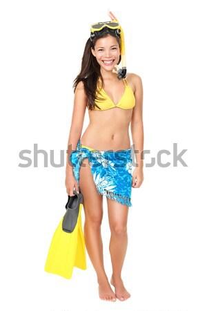 Vacation woman isolated Stock photo © Maridav