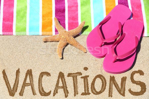 отпуск пляж путешествия текста написанный Сток-фото © Maridav