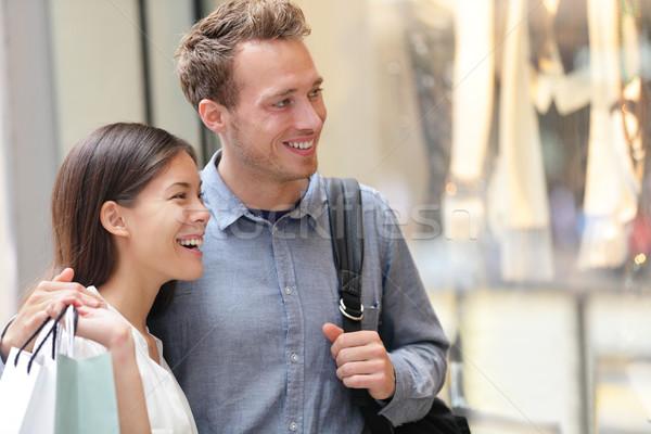 Couple shopping in Hong Kong Central Stock photo © Maridav