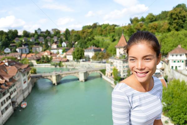 Tourist relaxing in Bern during Switzerland travel Stock photo © Maridav