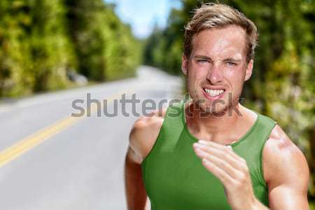 Man runner running endurance training jogging Stock photo © Maridav