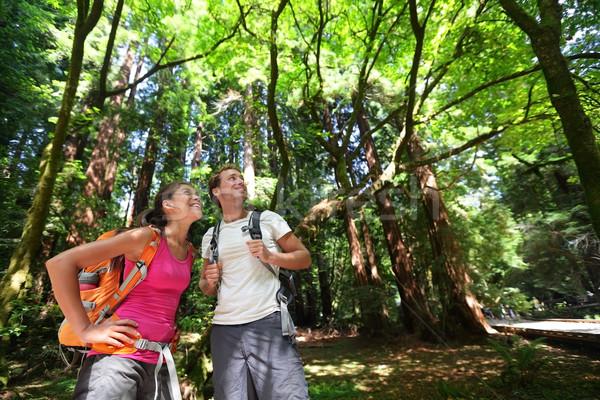 Zdjęcia stock: Turystyka · ludzi · charakter · San · Francisco · para · lasu