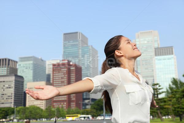 Businesswoman carefree in urban city - Success Stock photo © Maridav