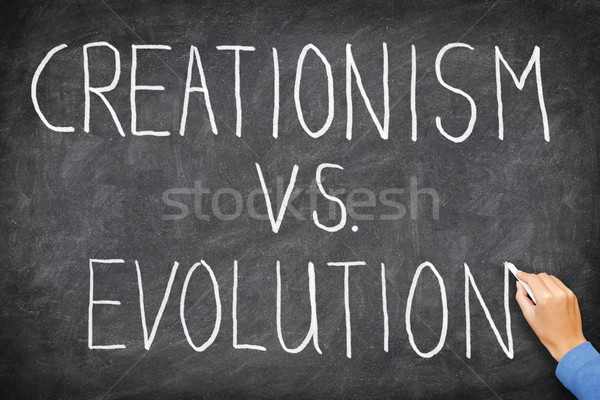 Photo stock: Vs · évolution · religion · éducation · main · écrit