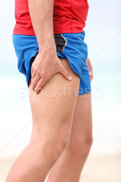 Muscle courir blessure cuisse Photo stock © Maridav
