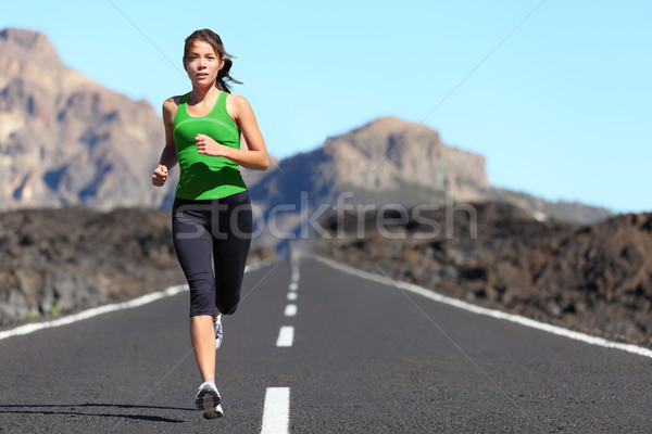 Runner woman running Stock photo © Maridav