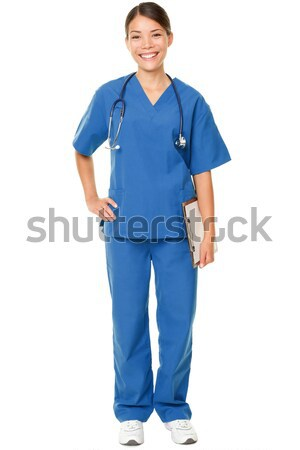 Young doctor in blue scrubs Stock photo © Maridav