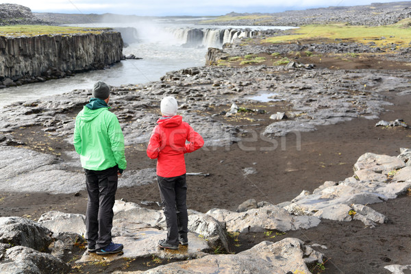 Iceland nature landscape with people by Selfoss Stock photo © Maridav