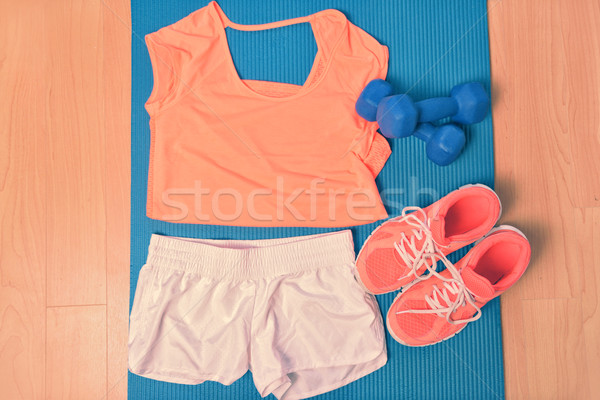 Workout clothes - fitness outfit and running shoes Stock photo © Maridav
