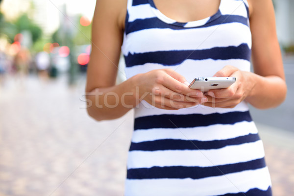 Foto stock: Mulher · rua · mulher · jovem