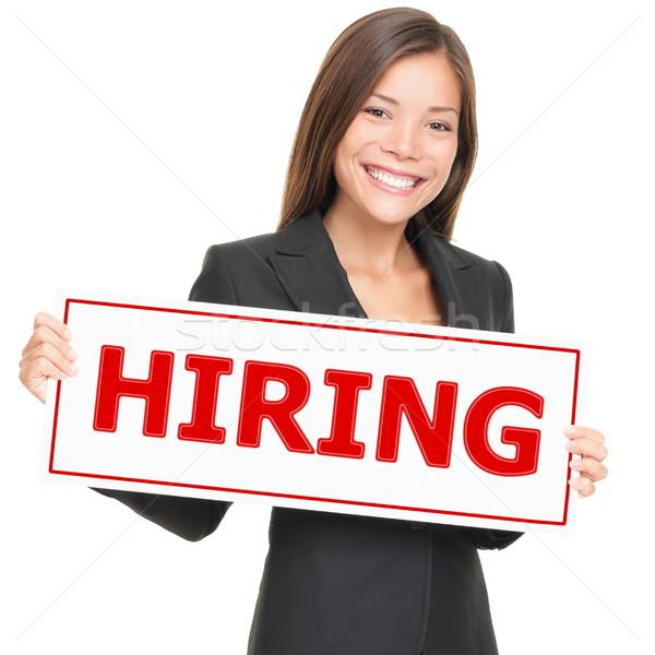 Job woman hiring Stock photo © Maridav
