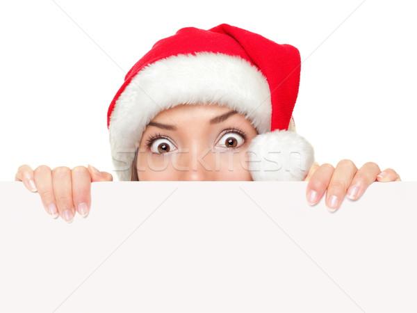 Stock photo: Christmas sign woman funny