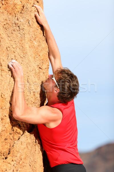 Climbing - Rock climber Stock photo © Maridav