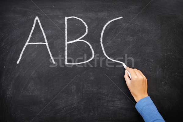 Education concept - ABC alphabet school blackboard Stock photo © Maridav
