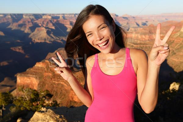 Asian hiker - hiking woman portrait, Grand Canyon Stock photo © Maridav