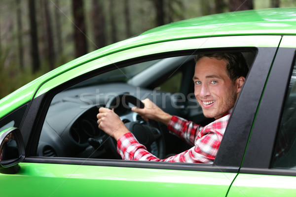 Electric car driver - green energy biofuel concept Stock photo © Maridav