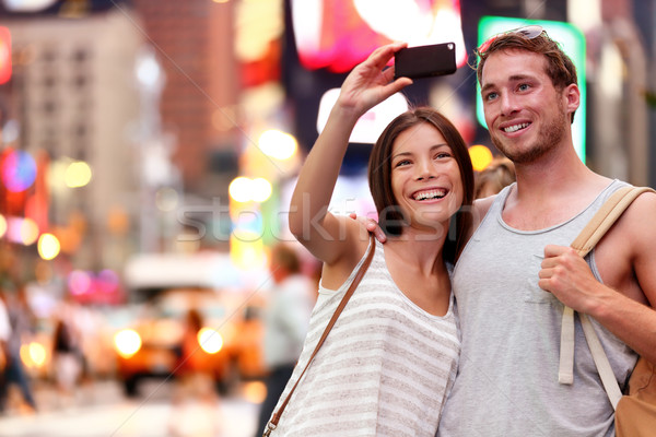 Couple taking smartphone selfie in New York, NYC Stock photo © Maridav