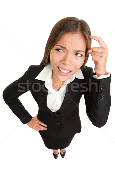 мышления люди деловая женщина деловой женщины смешные глядя Сток-фото © Maridav