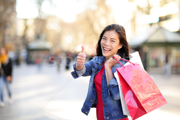 Vásárlás nő remek LA Barcelona Spanyolország Stock fotó © Maridav
