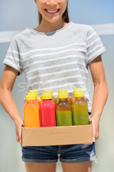 Juice detox - cleanse diet with vegetable juicing Stock photo © Maridav