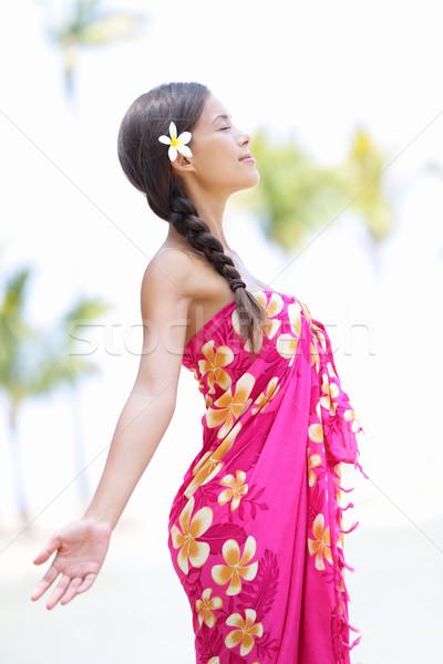 Beach woman on Hawaii Stock photo © Maridav